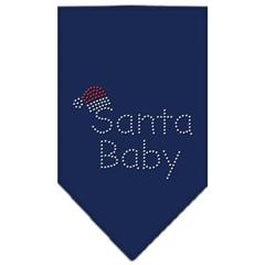 Mirage Pet Products Santa Baby Rhinestone Bandana Navy Blue large