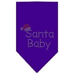 Mirage Pet Products Santa Baby Rhinestone Bandana Purple Large