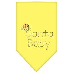 Mirage Pet Products Santa Baby Rhinestone Bandana Yellow Large