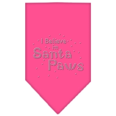 Mirage Pet Products Santa Paws Rhinestone Bandana Bright Pink Large
