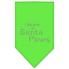 Mirage Pet Products Santa Paws Rhinestone Bandana Lime Green Small