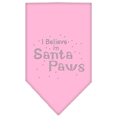 Mirage Pet Products Santa Paws Rhinestone Bandana Light Pink Small