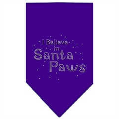 Mirage Pet Products Santa Paws Rhinestone Bandana Purple Large