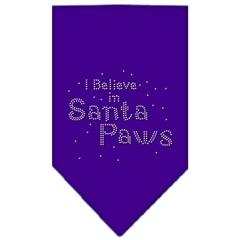 Mirage Pet Products Santa Paws Rhinestone Bandana Purple Small
