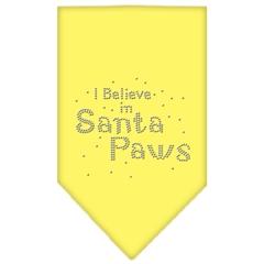 Mirage Pet Products Santa Paws Rhinestone Bandana Yellow Large