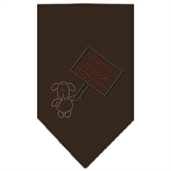 Mirage Pet Products Santa Please Stop here Rhinestone Bandana Cocoa Small