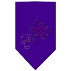 Mirage Pet Products Santa Please Stop here Rhinestone Bandana Purple Small