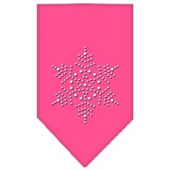Mirage Pet Products Snowflake Rhinestone Bandana Bright Pink Small