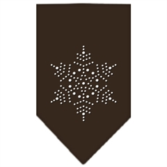 Mirage Pet Products Snowflake Rhinestone Bandana Cocoa Large
