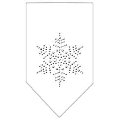 Mirage Pet Products Snowflake Rhinestone Bandana White Large