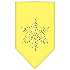 Mirage Pet Products Snowflake Rhinestone Bandana Yellow Small