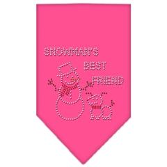 Mirage Pet Products Snowman's Best Friend Rhinestone Bandana Bright Pink Small
