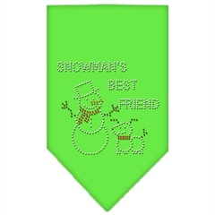 Mirage Pet Products Snowman's Best Friend Rhinestone Bandana Lime Green Small