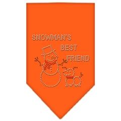 Mirage Pet Products Snowman's Best Friend Rhinestone Bandana Orange Large