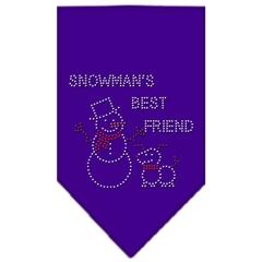 Mirage Pet Products Snowman's Best Friend Rhinestone Bandana Purple Small