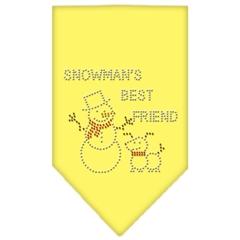 Mirage Pet Products Snowman's Best Friend Rhinestone Bandana Yellow Large