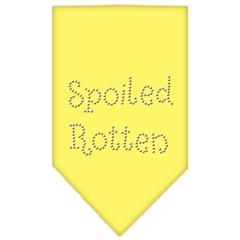 Mirage Pet Products Spoiled Rotten Rhinestone Bandana Yellow Small