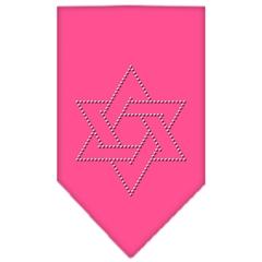 Mirage Pet Products Star Of David Rhinestone Bandana Bright Pink Large
