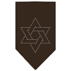 Mirage Pet Products Star Of David Rhinestone Bandana Cocoa Large