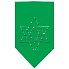 Mirage Pet Products Star Of David Rhinestone Bandana Emerald Green Large