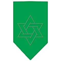 Mirage Pet Products Star Of David Rhinestone Bandana Emerald Green Small