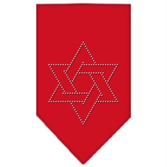 Mirage Pet Products Star Of David Rhinestone Bandana Red Large