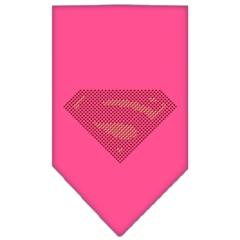 Mirage Pet Products Super! Rhinestone Bandana Bright Pink Large