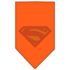 Mirage Pet Products Super! Rhinestone Bandana Orange Large