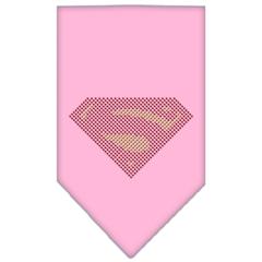 Mirage Pet Products Super! Rhinestone Bandana Light Pink Large
