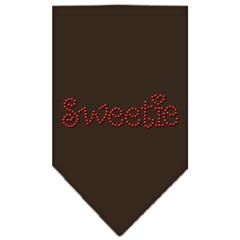 Mirage Pet Products Sweetie Rhinestone Bandana Cocoa Large