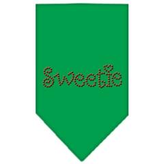 Mirage Pet Products Sweetie Rhinestone Bandana Emerald Green Large