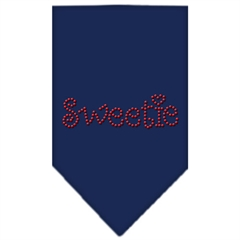 Mirage Pet Products Sweetie Rhinestone Bandana Navy Blue large