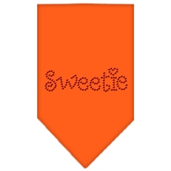 Mirage Pet Products Sweetie Rhinestone Bandana Orange Large