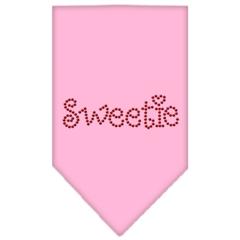 Mirage Pet Products Sweetie Rhinestone Bandana Light Pink Large