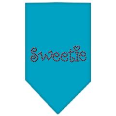 Mirage Pet Products Sweetie Rhinestone Bandana Turquoise Large