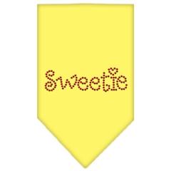 Mirage Pet Products Sweetie Rhinestone Bandana Yellow Small