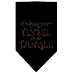 Mirage Pet Products Tinsel in a Tangle Rhinestone Bandana Black Small
