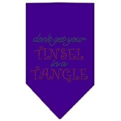Mirage Pet Products Tinsel in a Tangle Rhinestone Bandana Purple Small