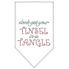 Mirage Pet Products Tinsel in a Tangle Rhinestone Bandana White Large