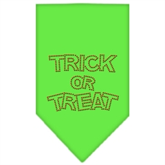 Mirage Pet Products Trick or Treat Rhinestone Bandana Lime Green Large