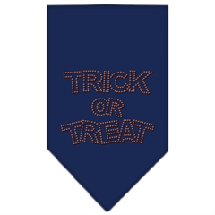 Mirage Pet Products Trick or Treat Rhinestone Bandana Navy Blue Small