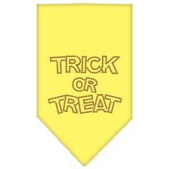 Mirage Pet Products Trick or Treat Rhinestone Bandana Yellow Small