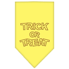Mirage Pet Products Trick or Treat Rhinestone Bandana Yellow Large