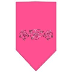 Mirage Pet Products Tropical Flower Rhinestone Bandana Bright Pink Large