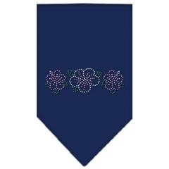 Mirage Pet Products Tropical Flower Rhinestone Bandana Navy Blue large