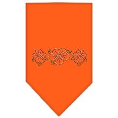 Mirage Pet Products Tropical Flower Rhinestone Bandana Orange Large