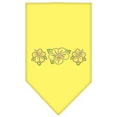 Mirage Pet Products Tropical Flower Rhinestone Bandana Yellow Large