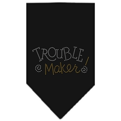Mirage Pet Products Trouble Maker Rhinestone Bandana Black Small