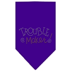Mirage Pet Products Trouble Maker Rhinestone Bandana Purple Small