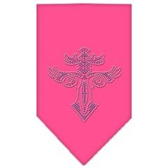 Mirage Pet Products Warriors Cross Rhinestone Bandana Bright Pink Small